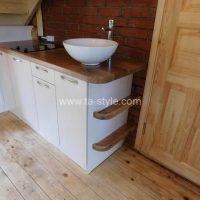 iebūvēta virtuve, virtuve viesu namam, virtuves virsma