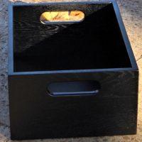 wooden box black