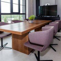 Finierēts konferenču galds, galds birojam, sapulču galds, galds