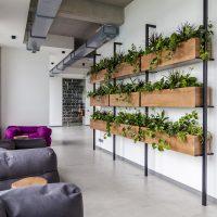 Masīvkoka dekoratīvie puķu podi telpām, dekori birojam, biroja puķu pods, koka kaste puķēm