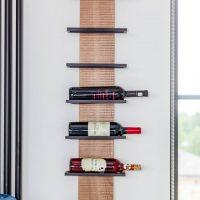 vīna pudeļu statīvs no metāla un koka, vīna pudeļu statīvs