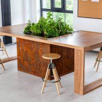 virtuves galds finierēts, virtuves galds birojam, mēbeļu izgatavošana, galds, virtuve